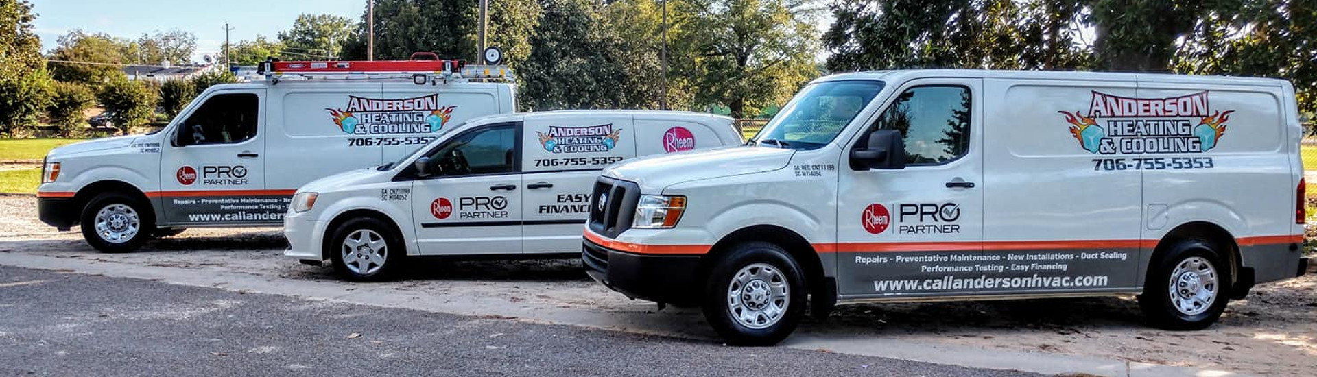 Service Vans | Anderson Heating and Air Conditioning Augusta GA